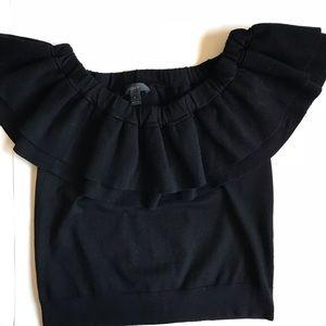 J. Crew Knit Off The Shoulder Blouse